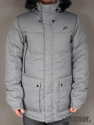 Зимняя куртка мужская Nike Down Parka cool grey.